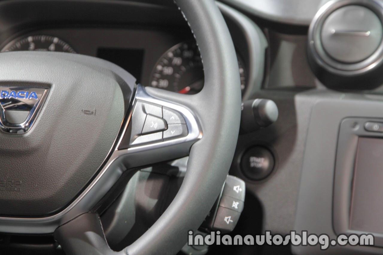 2018 Dacia Duster multifunction steering volume at IAA 2017