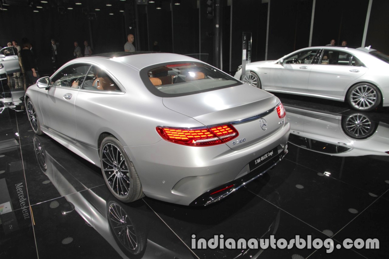 2018 Mercedes S-Class Coupe rear three quarters at IAA 2017