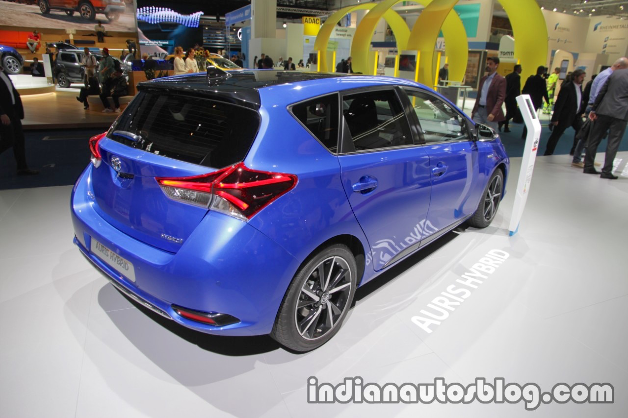 2018 toyota auris hybrid rear three quarters right at iaa 2017. Black Bedroom Furniture Sets. Home Design Ideas