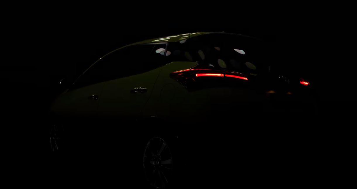 2018 Toyota Yaris (facelift) rear three quarters teaser