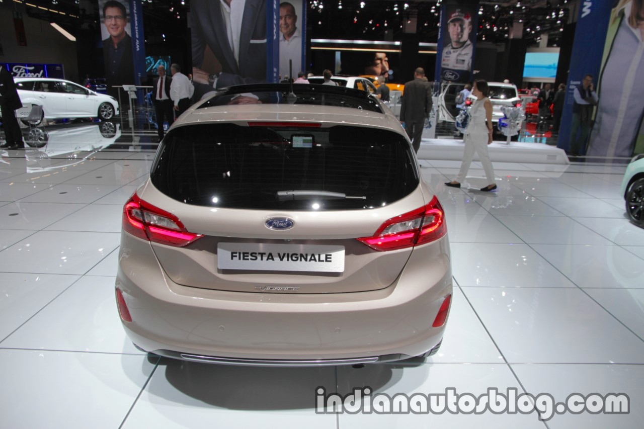 ford fiesta vignale rear at iaa 2017. Black Bedroom Furniture Sets. Home Design Ideas