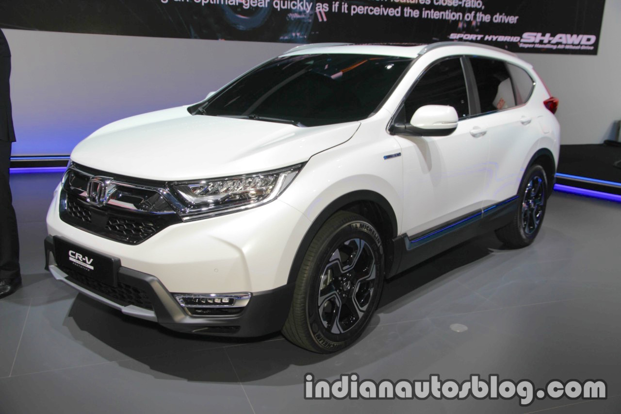 honda cr v hybrid prototype showcased at iaa 2017 live. Black Bedroom Furniture Sets. Home Design Ideas