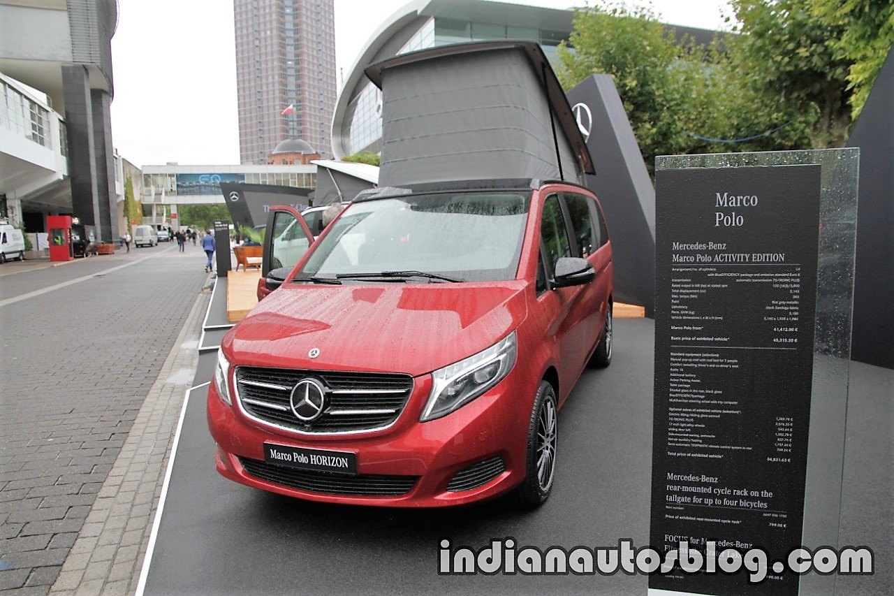 Mercedes Marco Polo 2008 >> Mercedes V-Class Marco Polo HORIZON in designo hyacinth red metallic front three quarters at the ...
