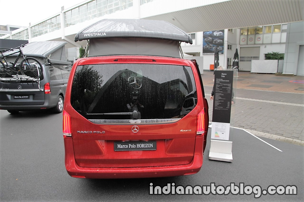 Mercedes Marco Polo 2008 >> Mercedes V-Class Marco Polo HORIZON in designo hyacinth red metallic rear at the IAA 2017