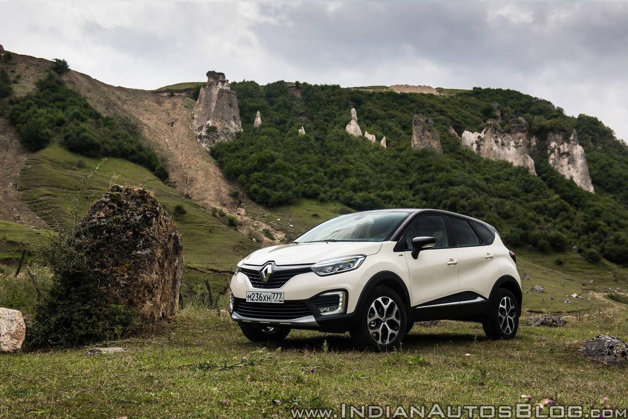Renault Kaptur (Renault Captur) Extreme front three quarters scenic