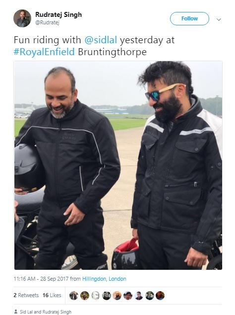 Royal Enfield 750 Tweet by President