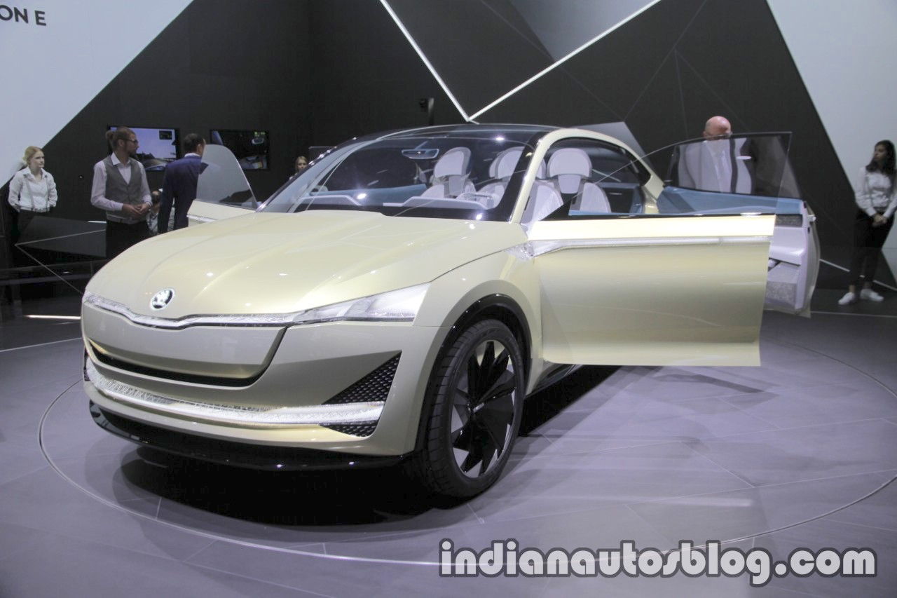 Skoda Vision E Concept front quarter at the 2017 IAA