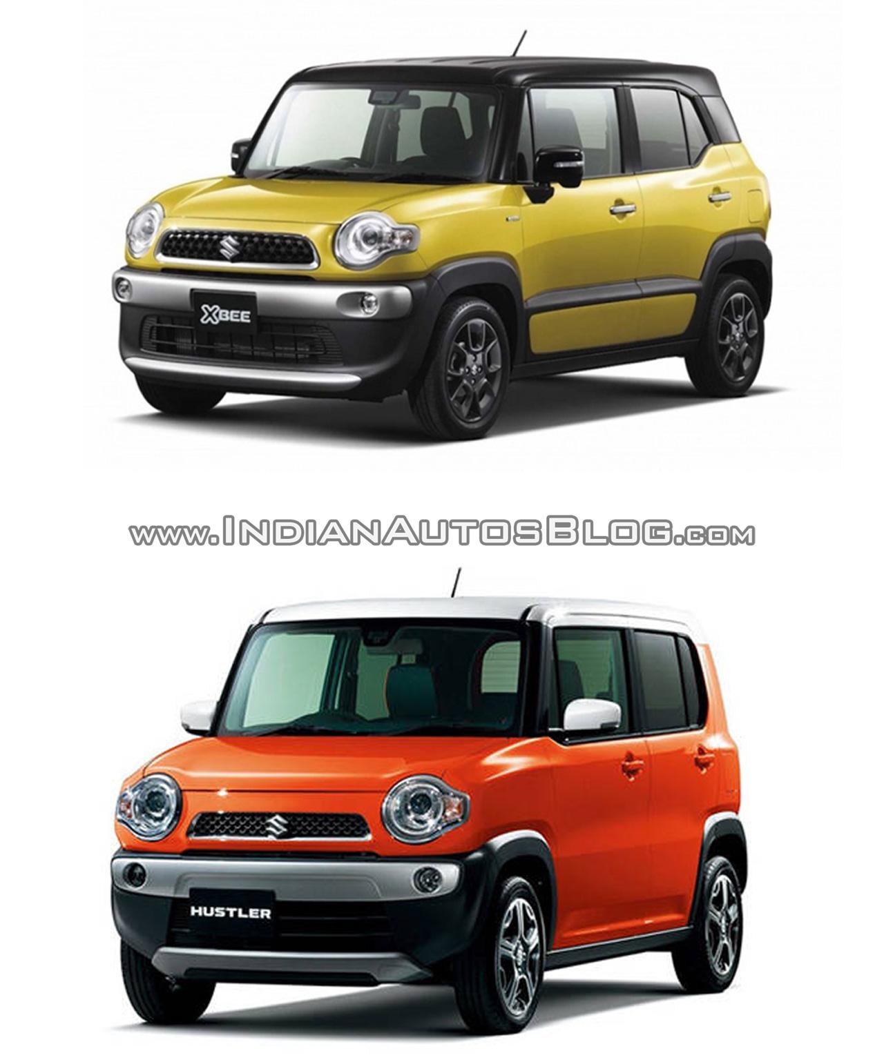 Suzuki Xbee concept vs. Suzuki Hustler front three quarters