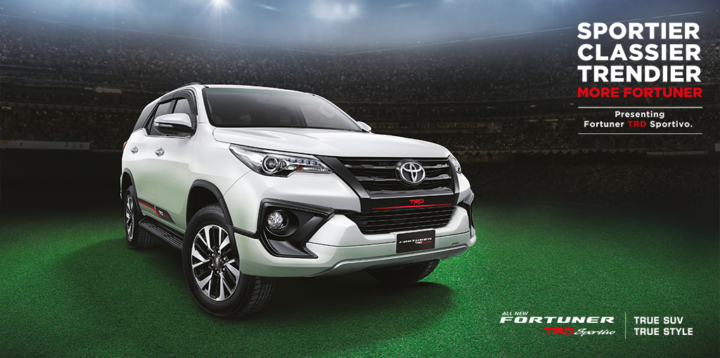 Toyota Fortuner TRD Sportivo front three quarters