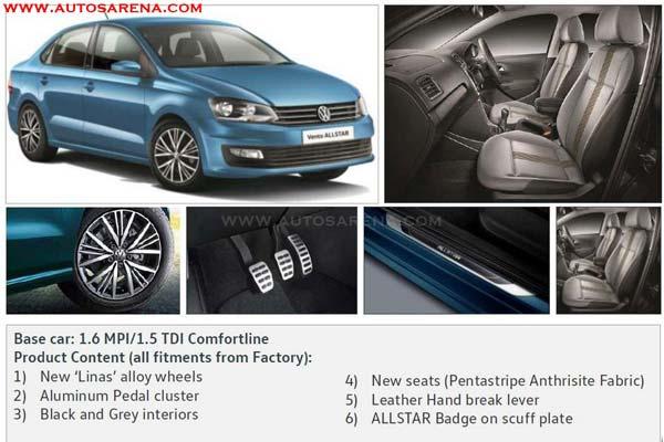 Volkswagen Vento ALLSTAR launch soon