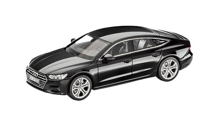 2018 Audi A7 Sportback Myth Black front three quarters