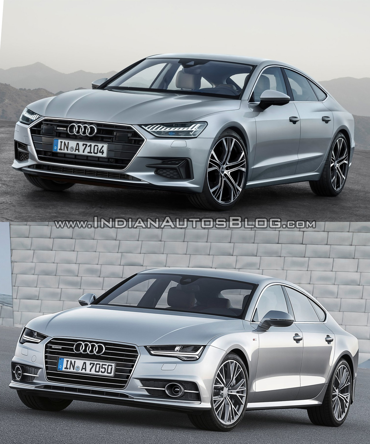 2018 audi a7 sportback vs 2014 audi a7 sportback old vs. Black Bedroom Furniture Sets. Home Design Ideas