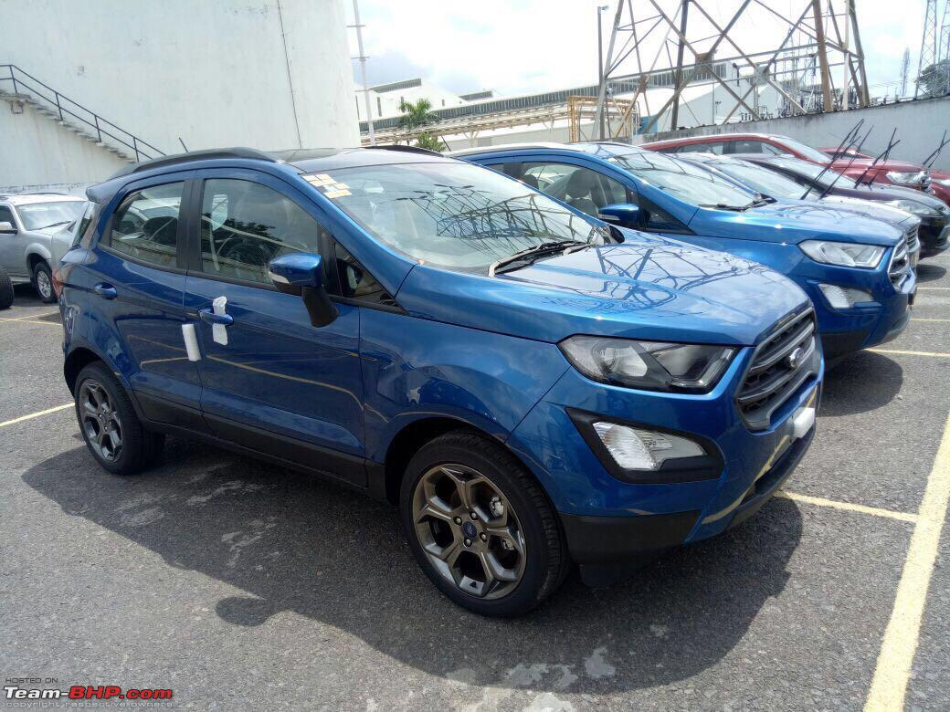 2018 ford ecosport titanium s spotted in india in lightning blue colour. Black Bedroom Furniture Sets. Home Design Ideas