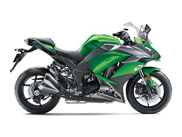 2018 Kawasaki Ninja 1000 press shot green