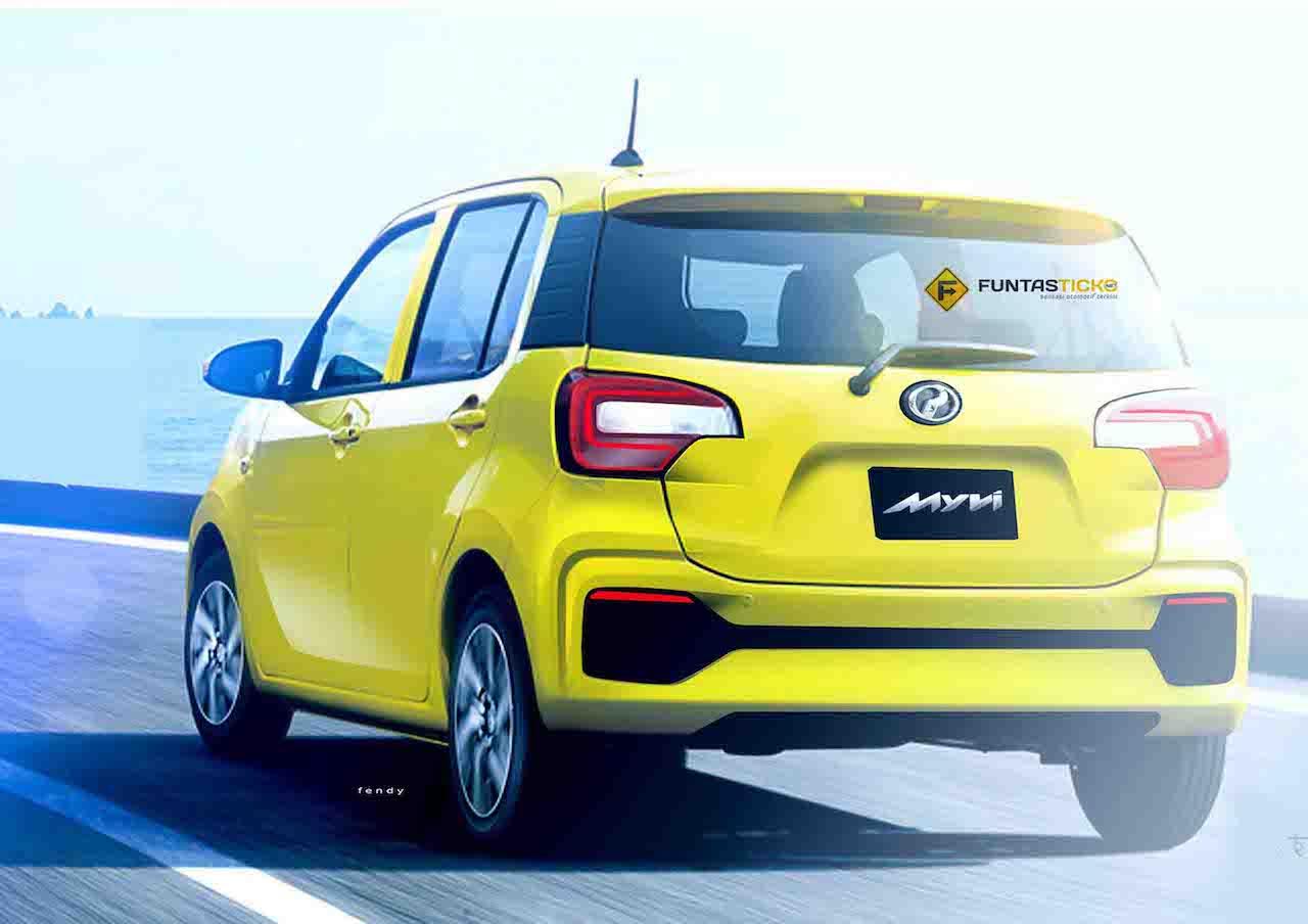 2018 Perodua Myvi rear three quarters rendering