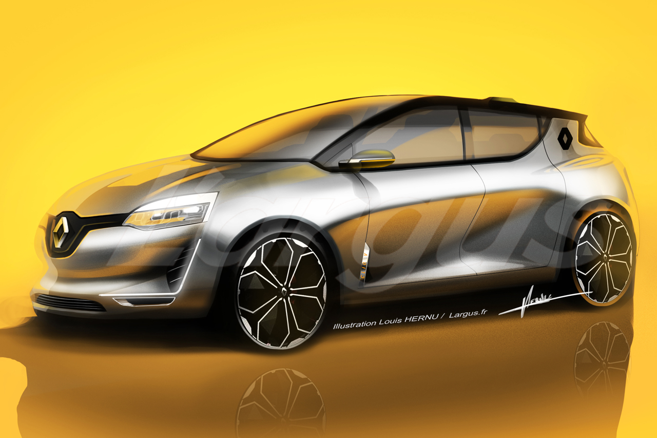2019 renault clio front three quarters rendering. Black Bedroom Furniture Sets. Home Design Ideas