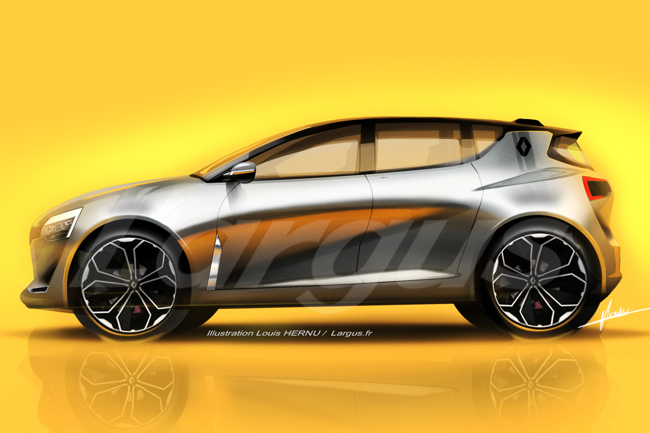 2019 renault clio mk5 rendered based on the symbioz concept. Black Bedroom Furniture Sets. Home Design Ideas