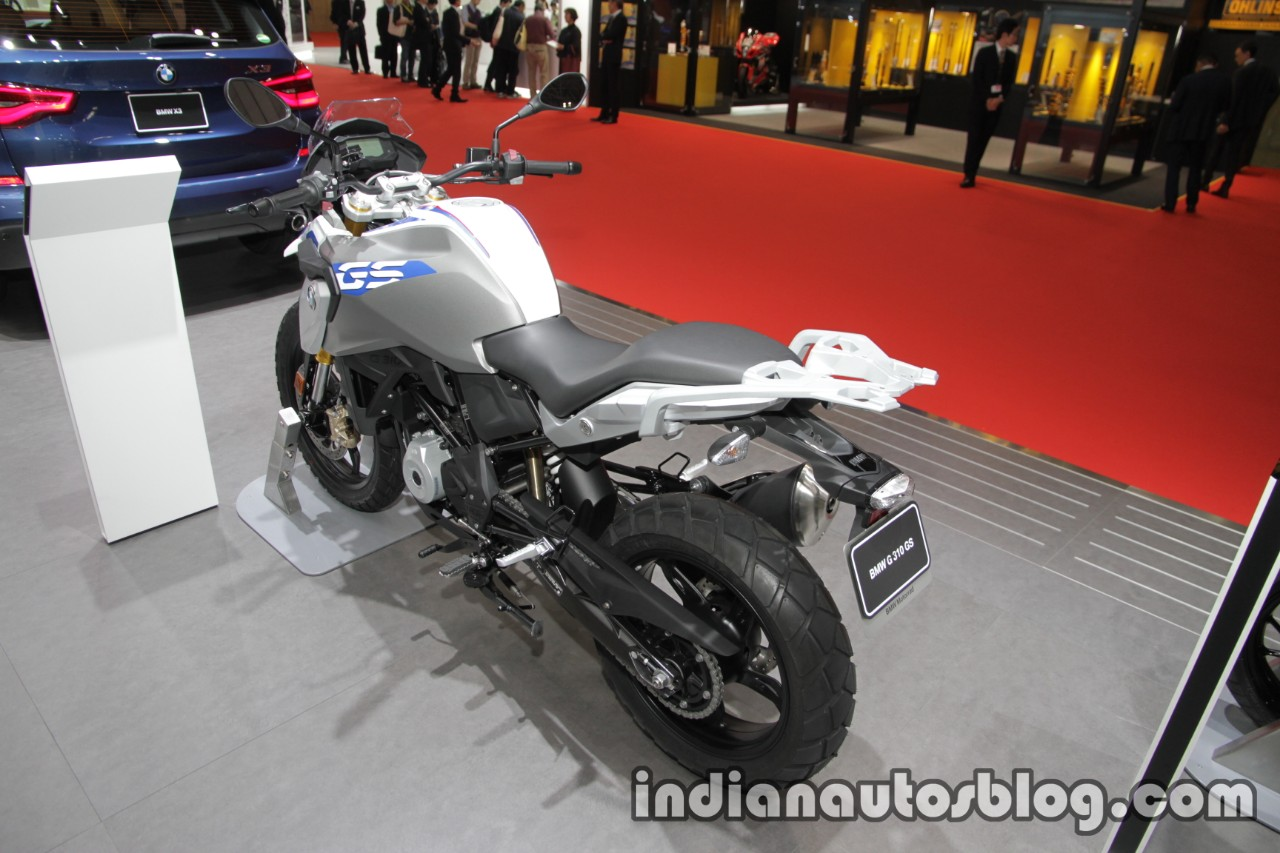 BMW G 310 GS rear three quarters left side at 2017 Tokyo Motor Show