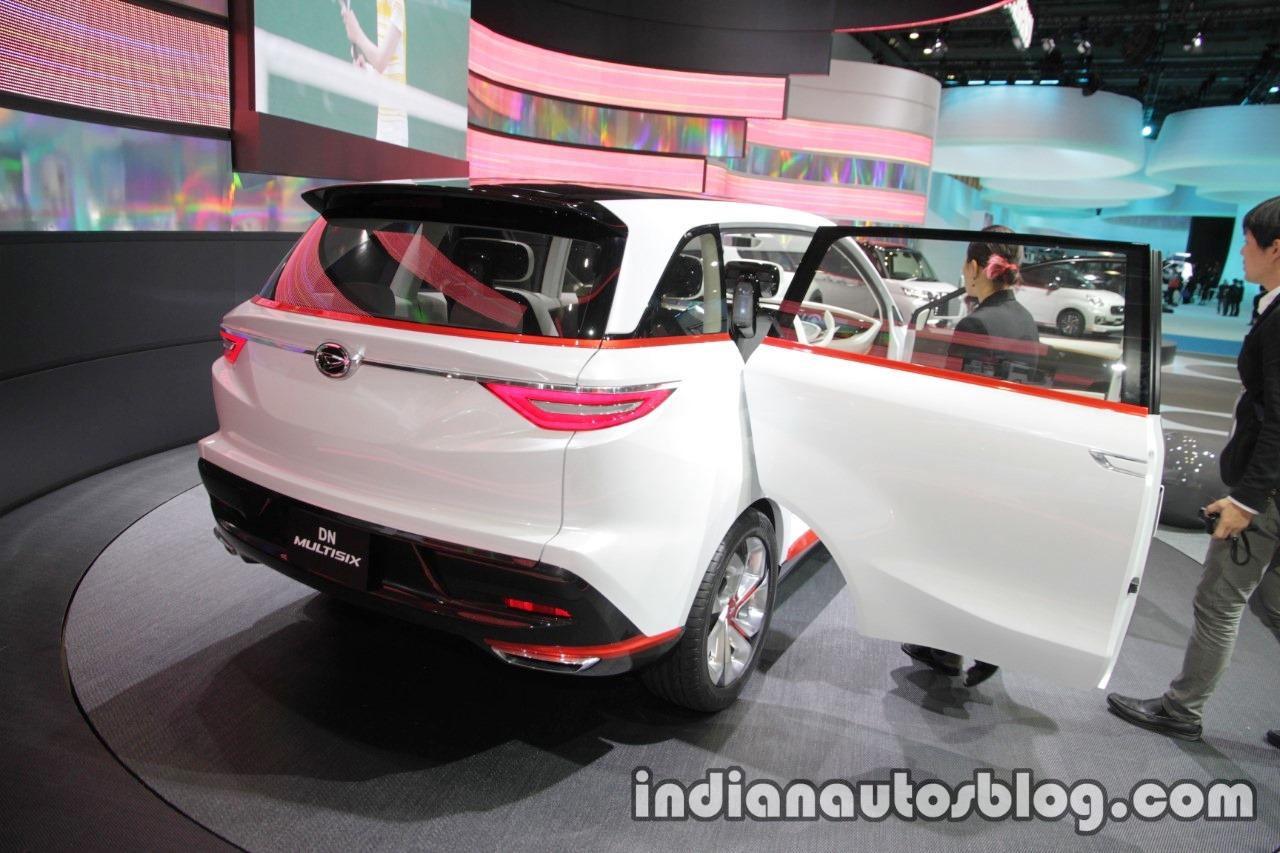 Daihatsu DN Multisix concept at the Tokyo Motor Show rear angle door open