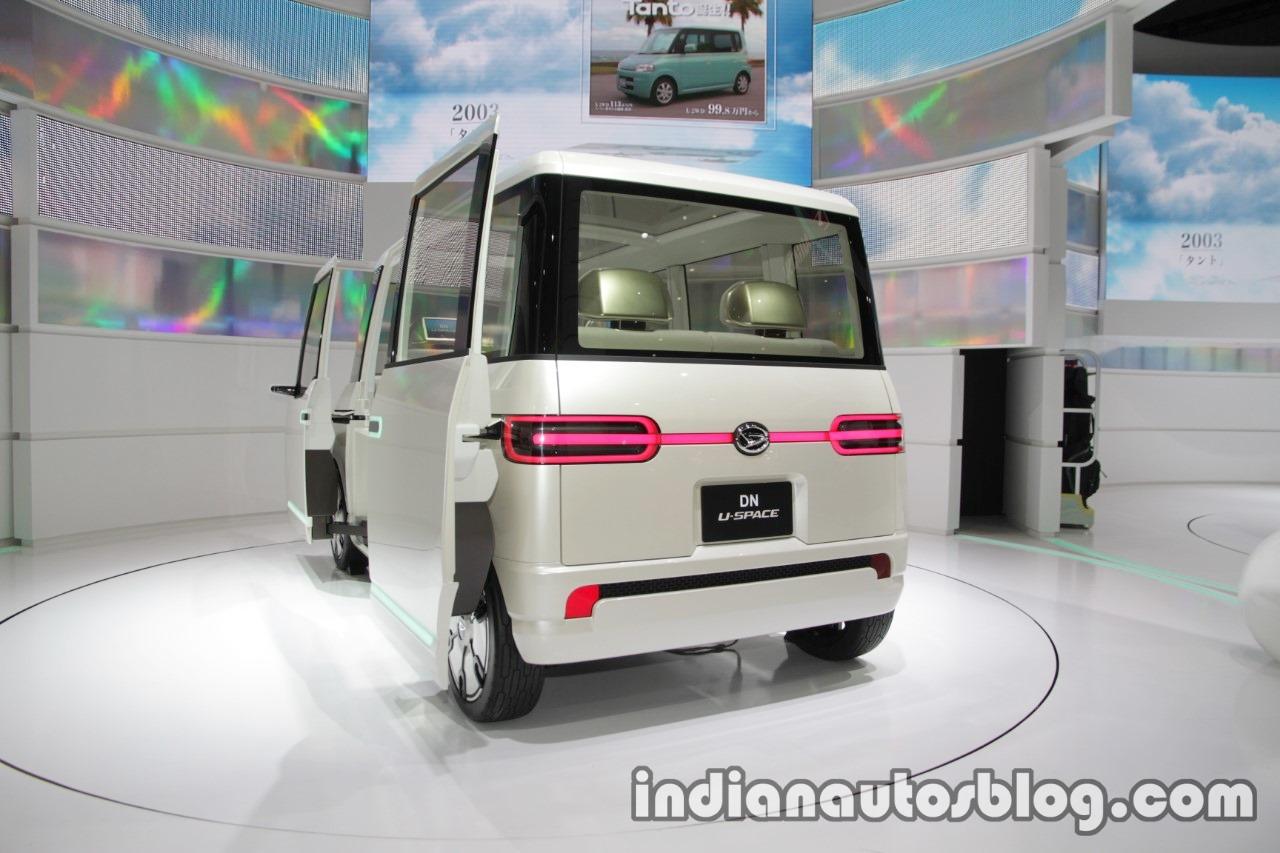 Daihatsu DN U-SPACE concept at the 2017 Tokyo Motor Show rear angle