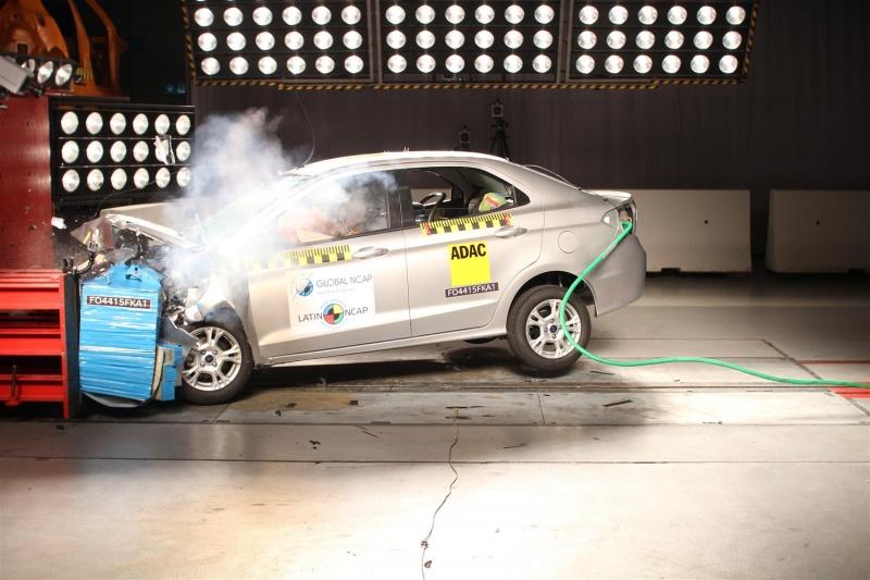 Ford KA (Ford Aspire) Latin NCAP crash test