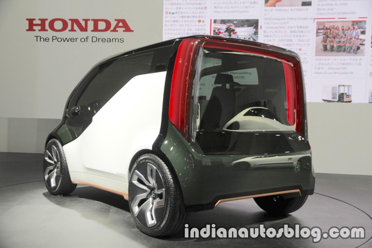 Honda NeuV concept rear three quarters left side at 2017 Tokyo Motor Show