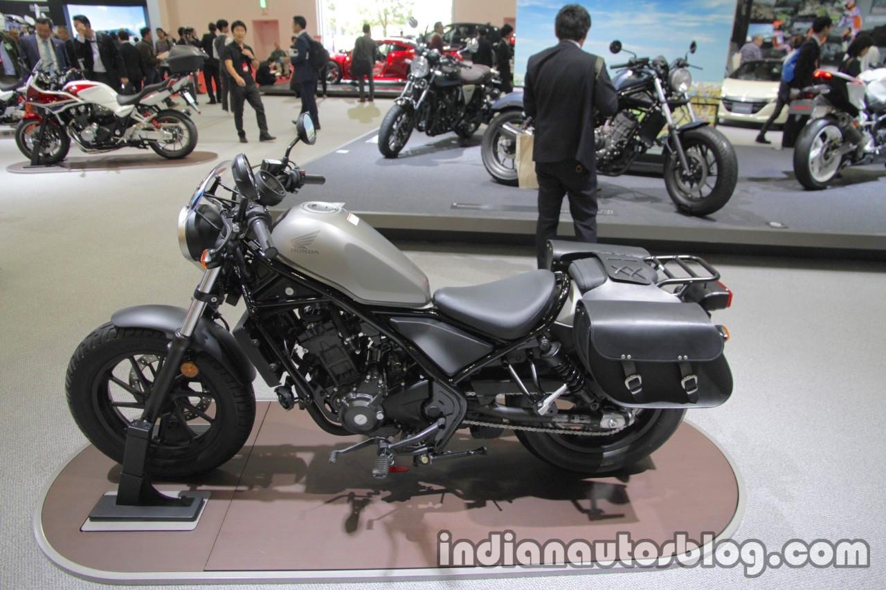 Honda Rebel 250 side wheels seat at the Tokyo Motor Show