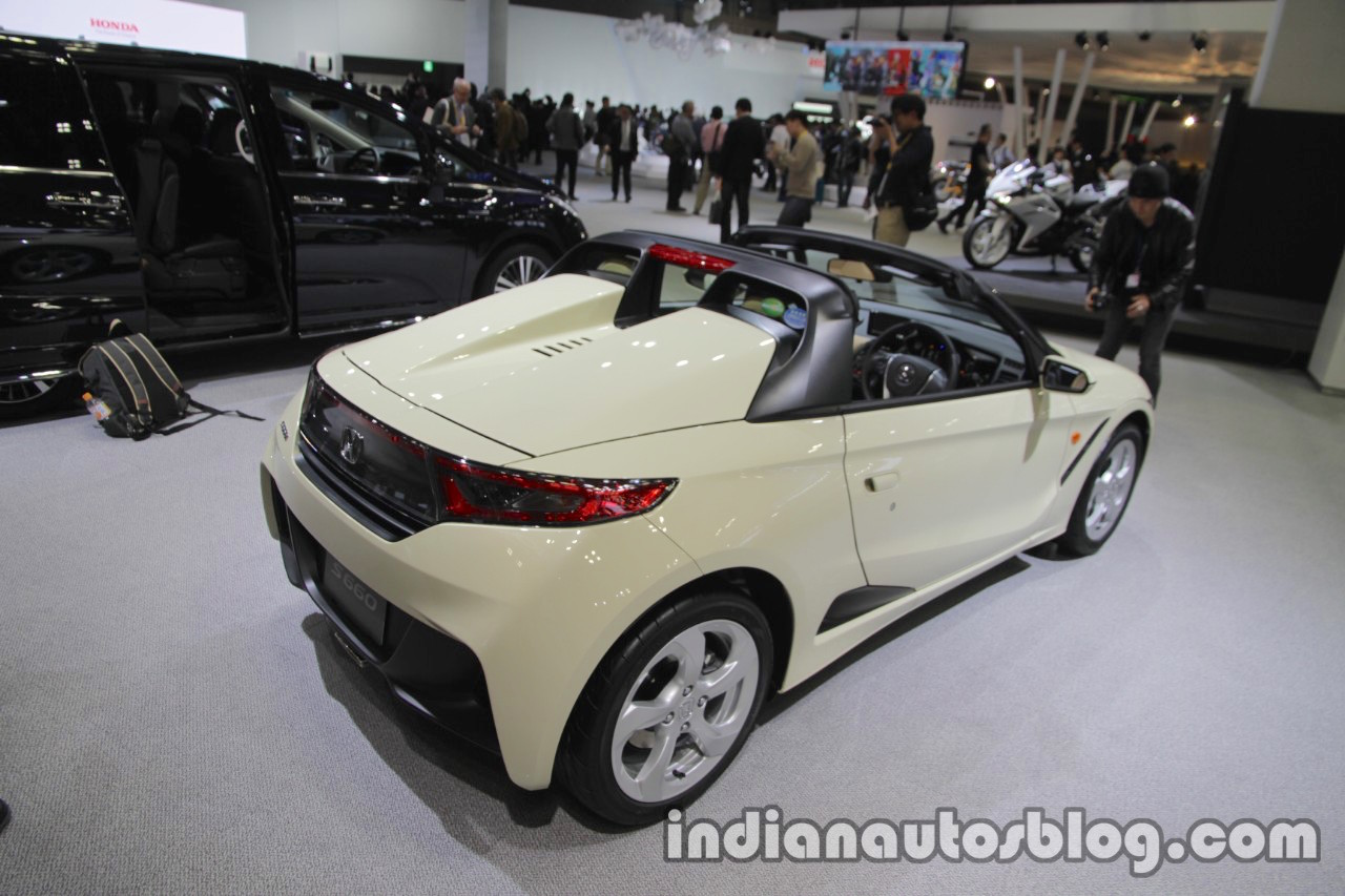 Honda S660 #komorebi edition rear three quarters right at the Tokyo Motor Show