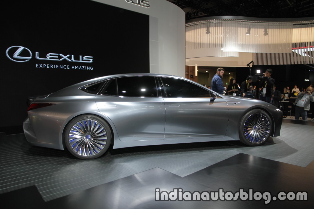 Lexus LS+ Concept at the 2017 Tokyo Motor Show side angle