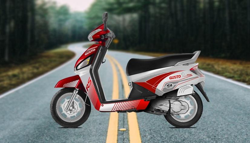 Mahindra Gusto RS Red