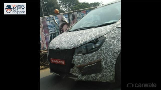 Mahindra U321 MPV spy pictures nose