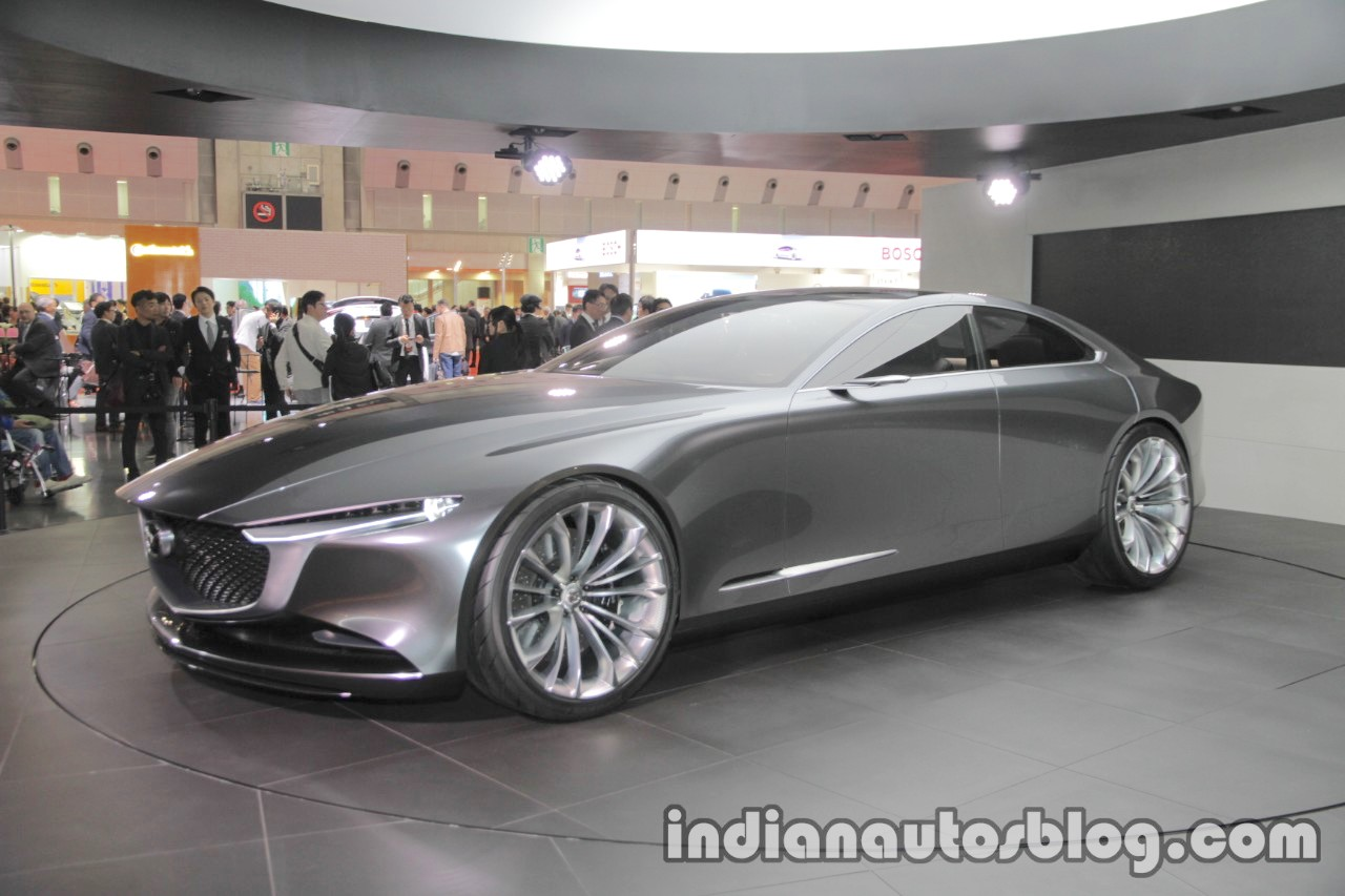 Mazda Vision Coupe concept front three quarters left side at 2017 Tokyo Motor Show