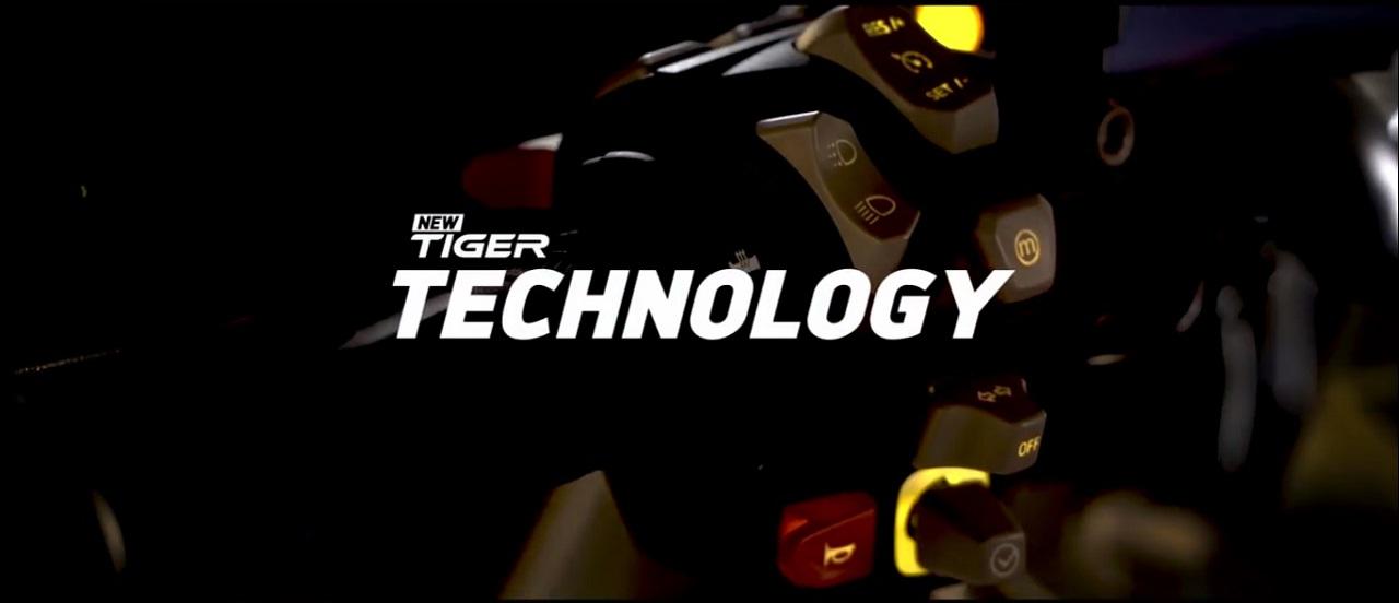 New Triumph Tiger teased switchgear