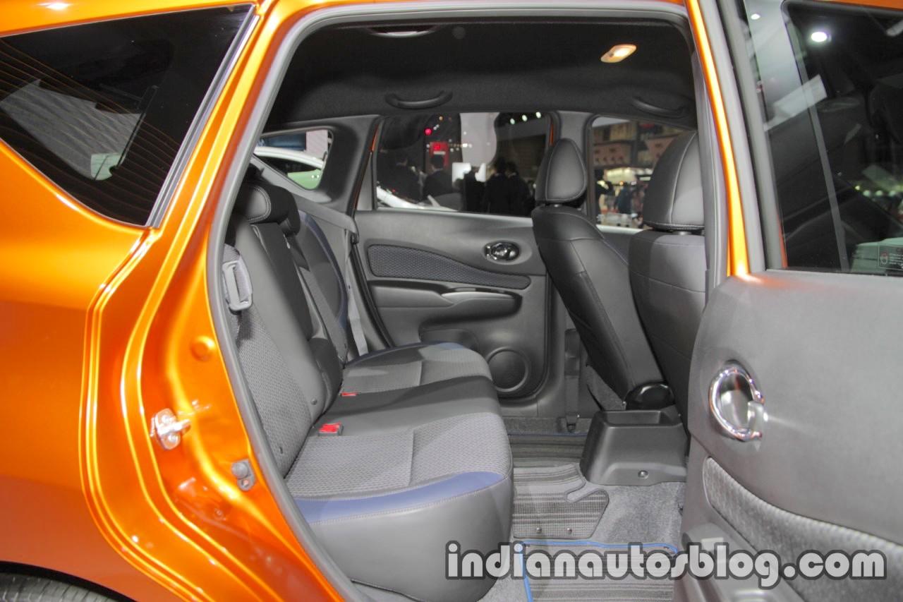 Nissan Note e-Power rear seats at 2017 Tokyo Motor Show