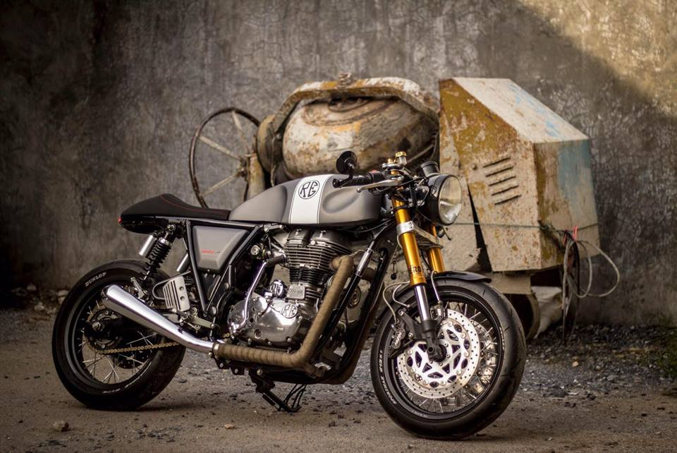 custom royal enfield continental gt by thailand 39 s ok easy shop. Black Bedroom Furniture Sets. Home Design Ideas