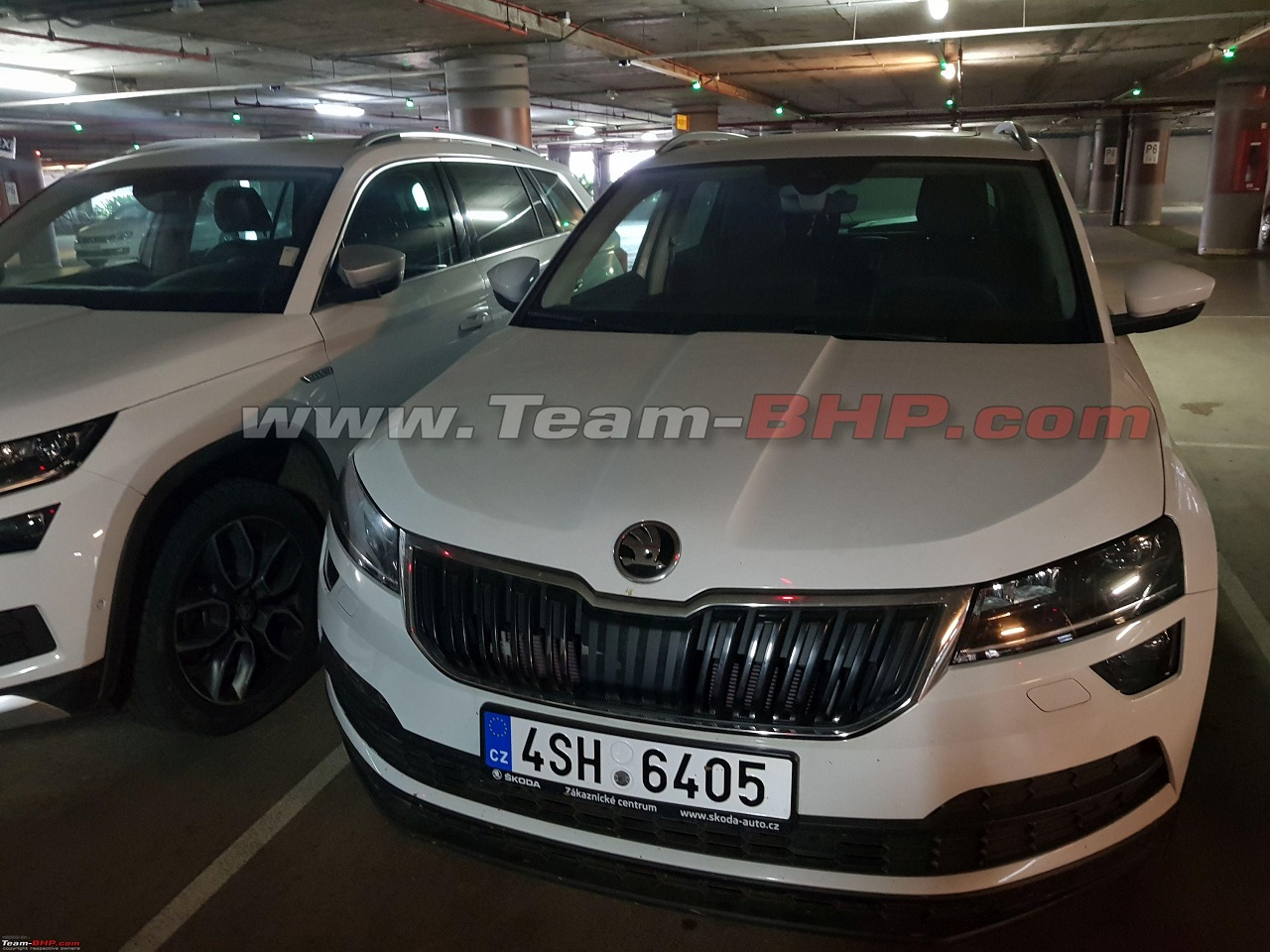 Skoda Karoq spotted in India front view