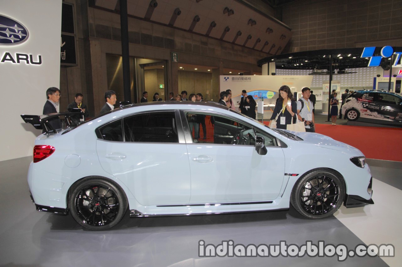 Subaru WRX STI S208 Limited Edition side at the Tokyo Motor Show