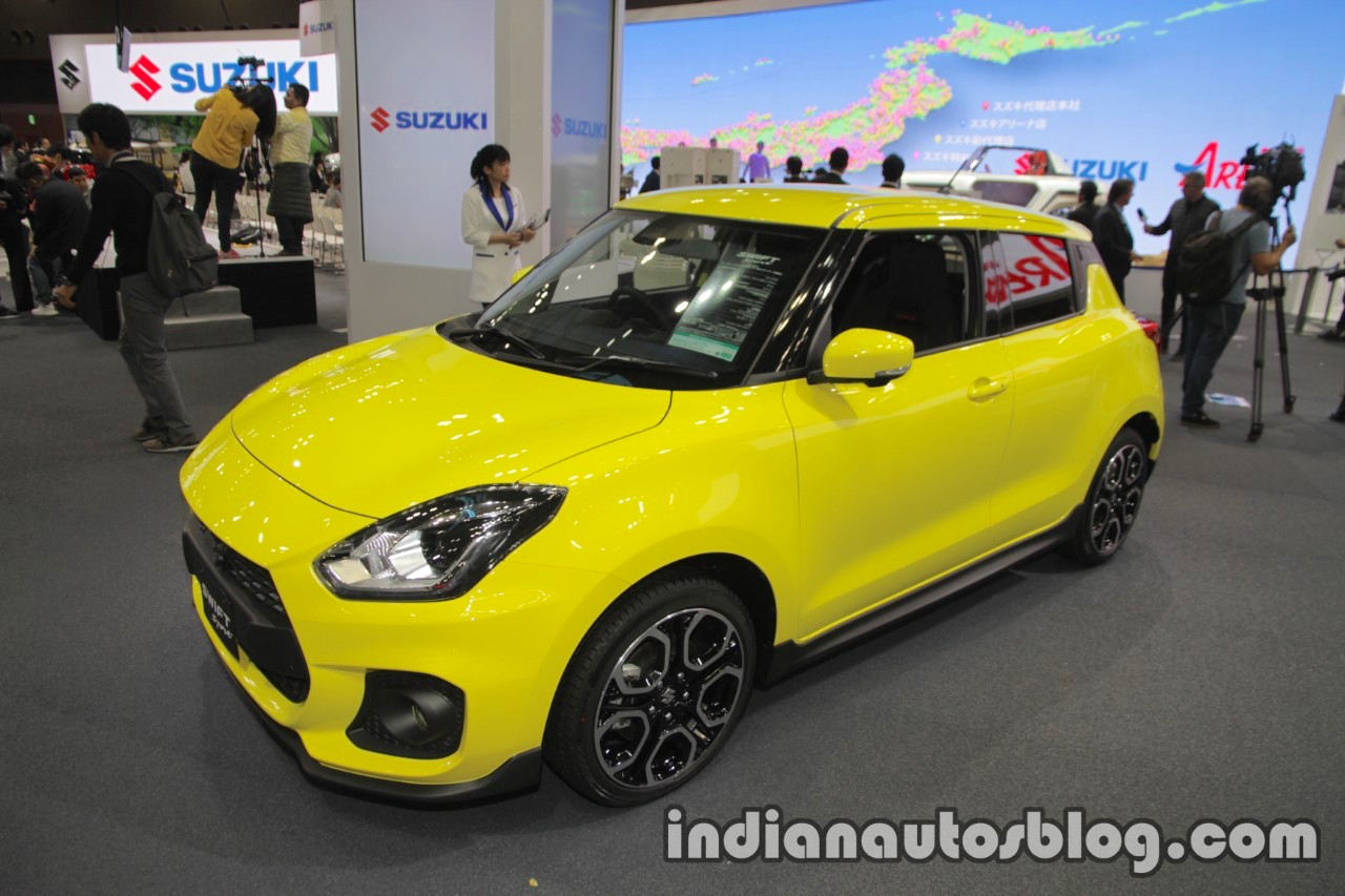 2018 suzuki swift sport at the 2017 tokyo motor show live. Black Bedroom Furniture Sets. Home Design Ideas