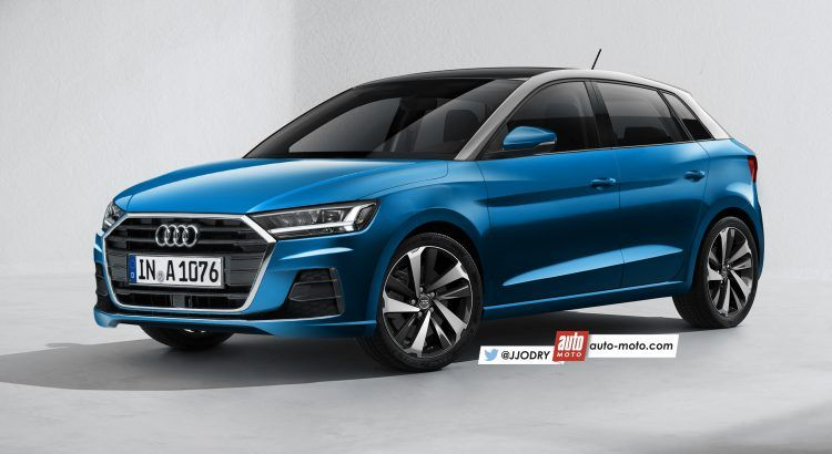2018 audi a1 rendered ahead of geneva ims 2018 premiere. Black Bedroom Furniture Sets. Home Design Ideas
