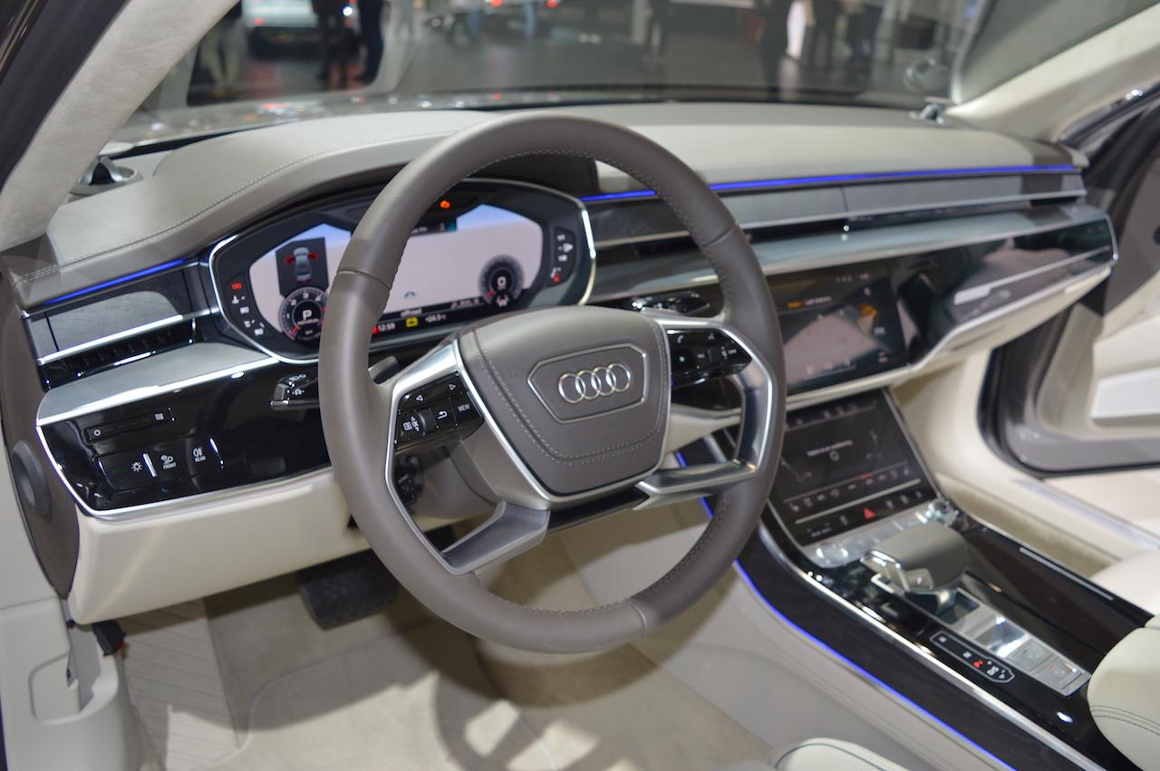 2018 Audi A8 L dashboard at 2017 Dubai Motor Show