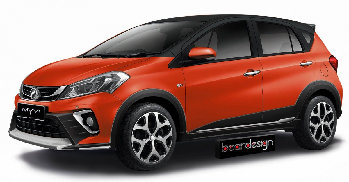 2018 Perodua Myvi cross variant rendered by Bear Design