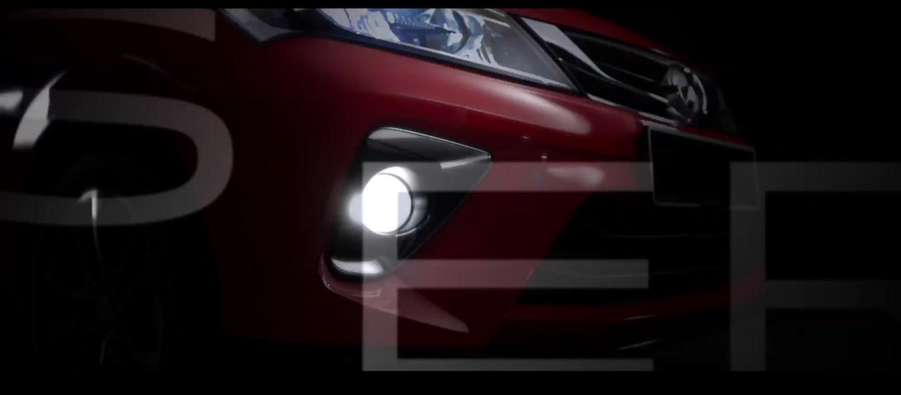 2018 Perodua Myvi front fascia teaser