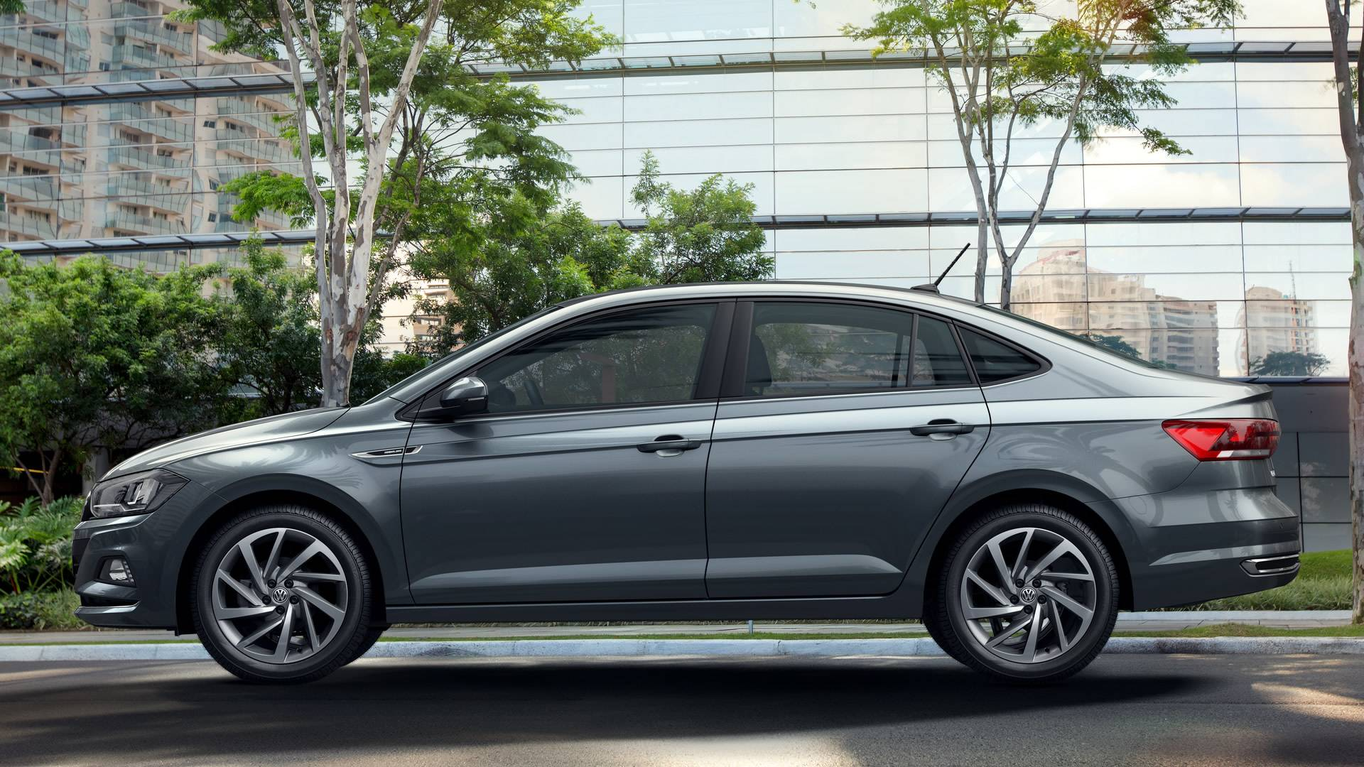 2018 VW Virtus (Polo based sedan) side view