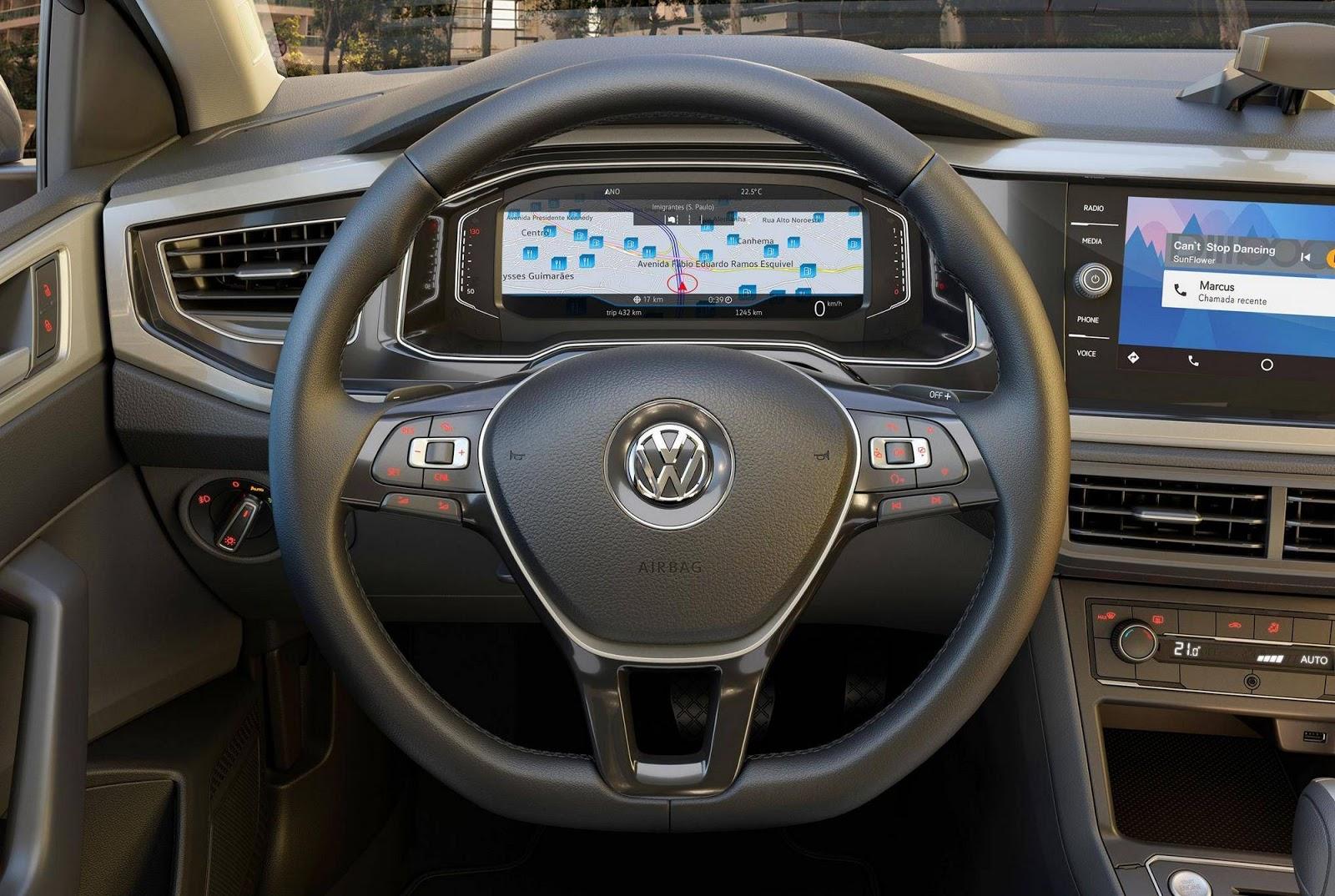 2018 VW Virtus (Polo based sedan) steering wheel
