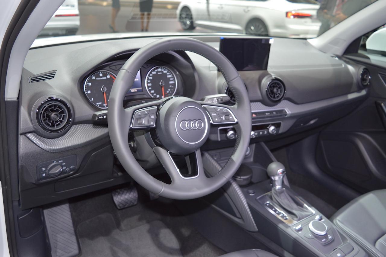 Audi Q2 dashboard at 2017 Dubai Motor Show