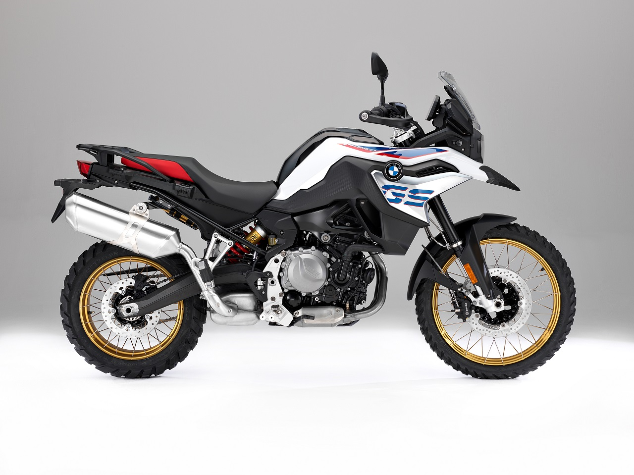 bmw f 850 gs white press shot right side. Black Bedroom Furniture Sets. Home Design Ideas
