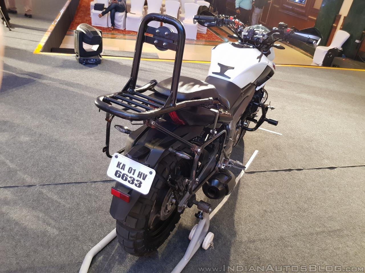 Bajaj Dominar 400 Trans Siberian Odeyssey rear right quarter