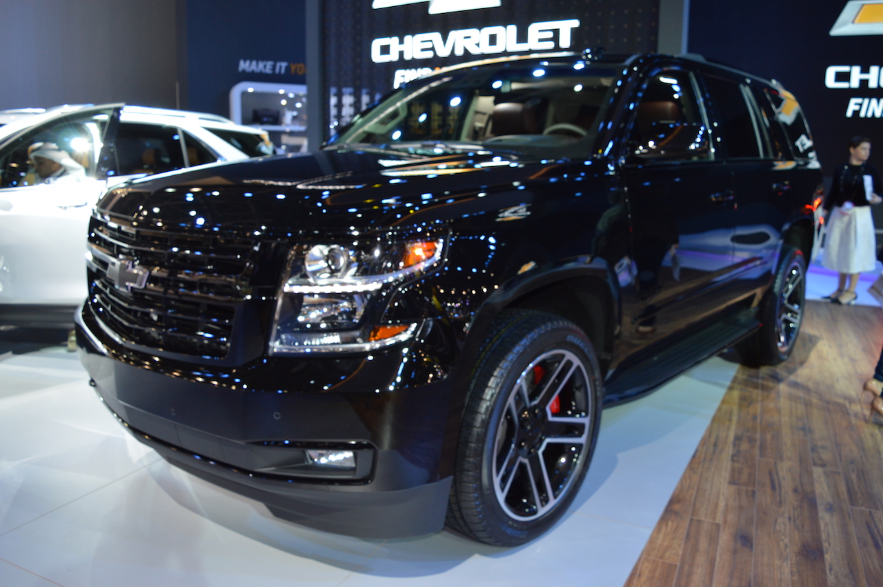 Chevrolet Tahoe RST showcased at the 2017 Dubai Motor Show