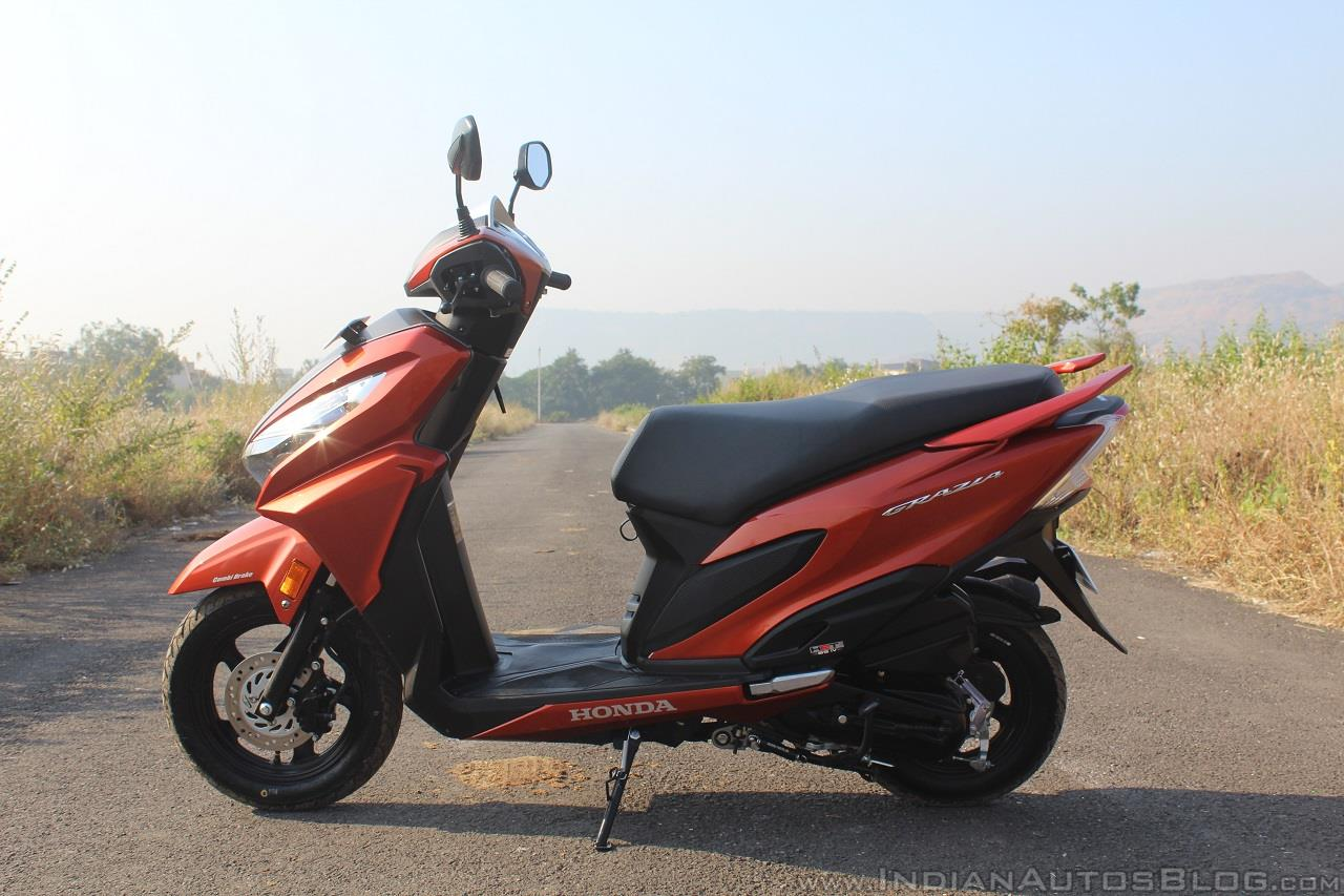 Honda Grazia first ride review left side