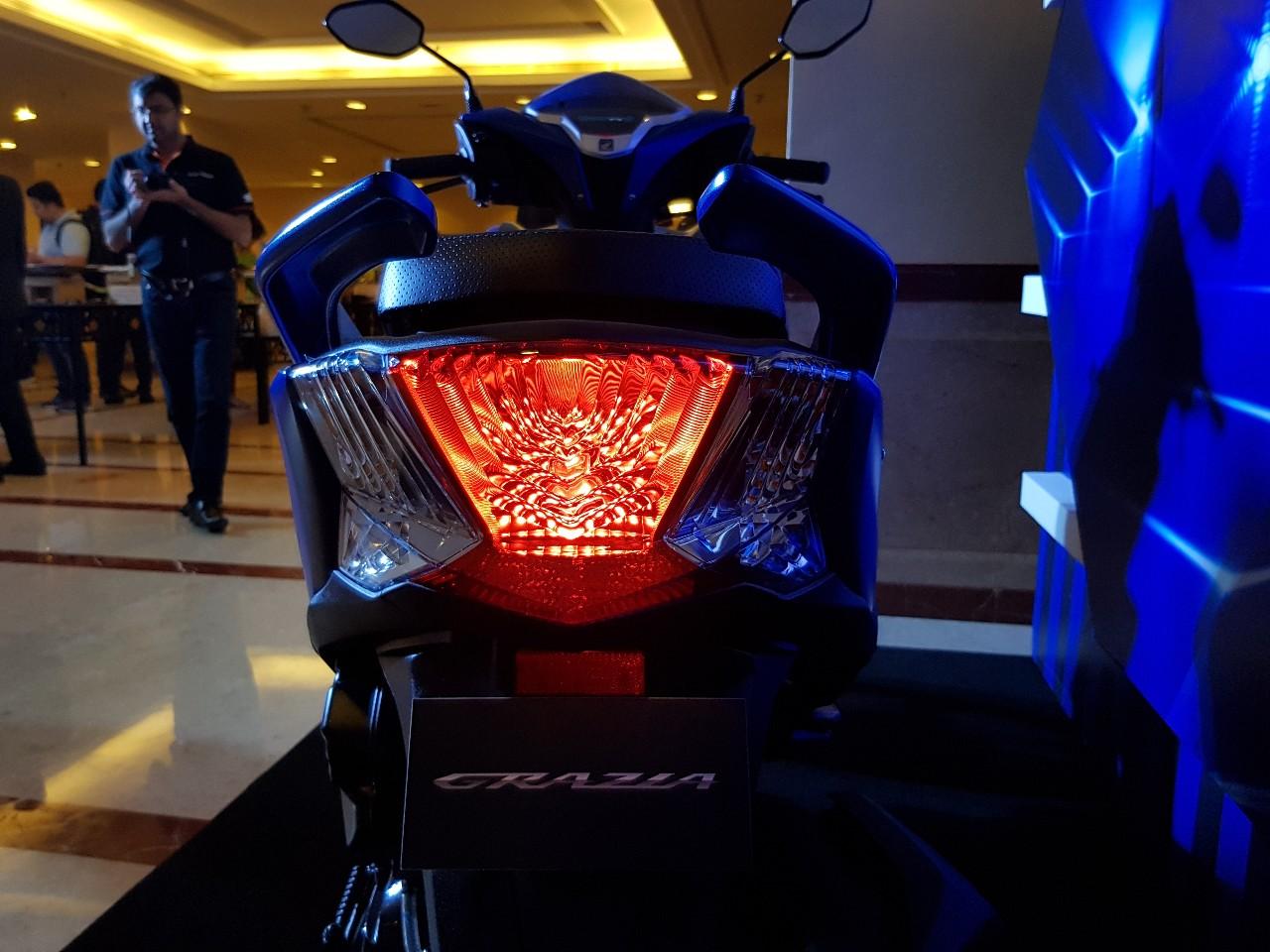Honda Grazia launch blue tail light